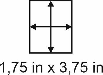 2mm zöllige Holzbase 1,75 x 3,75