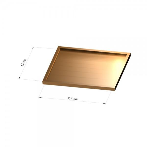 Tray 6 cm x 7,5 cm, 3mm