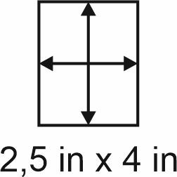 3mm zöllige Holzbase 2,5 x 4
