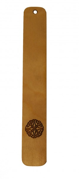 Lesezeichen Himmwelsknoten aus Holz