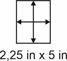 3mm zöllige Holzbase 2,25 x 5