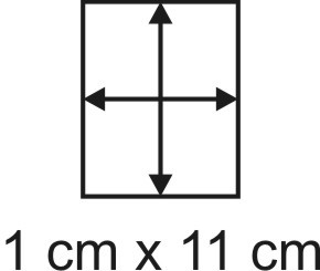 Eckbase 1x11 cm, 3mm dick