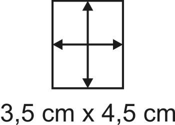 Eckbase 3,5x4,5 cm, 3mm dick