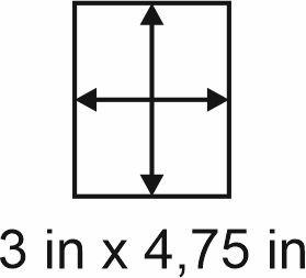 3mm zöllige Holzbase 3 x 4,75