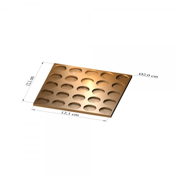 5x5 Tray 20 mm rund, 2mm