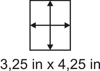 2mm zöllige Holzbase3,25 x 4,25