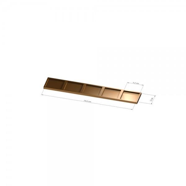 1x5 Tray 32 mm eckig, 3mm
