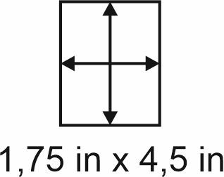 3mm zöllige Holzbase 1,75 x 4,5