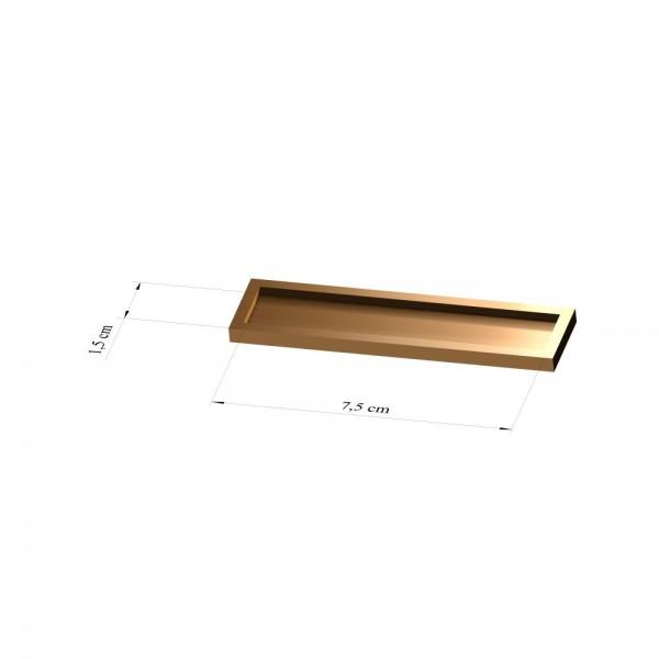 Tray 1,5 cm x 7,5 cm, 2mm