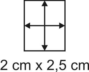 Eckbase 2x2,5 cm, 3mm dick