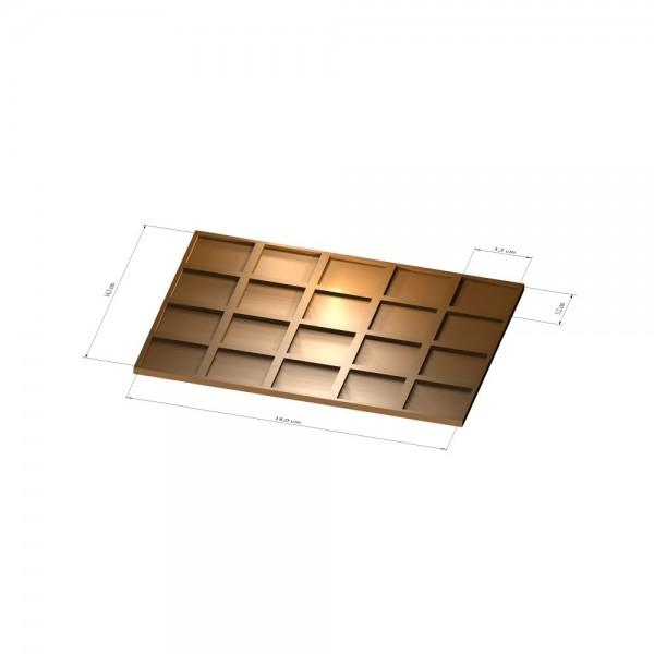 4x5 Tray 32 mm eckig, 3mm