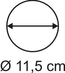 Tabletop Rundbase 11,5 cm, 3mm