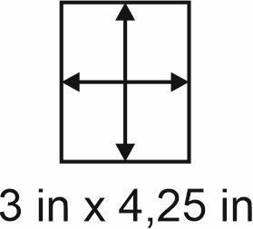 3mm zöllige Holzbase 3 x 4,25