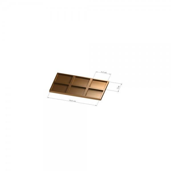 2x3 Tray 32 mm eckig, 3mm