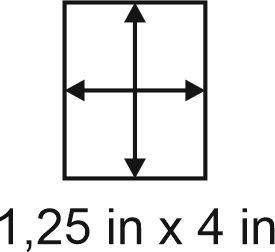 3mm zöllige Holzbase 1,25 x 4