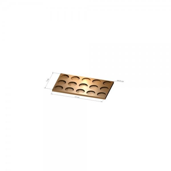3x5 Tray 20 mm rund, 3mm