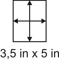 3mm zöllige Holzbase 3,5 x 5