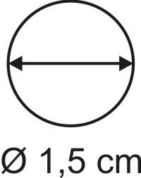 Tabletop Rundbase 1,5 cm, 3mm
