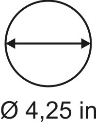 2mm zöllige Rundbase ø 4,25
