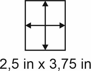 3mm zöllige Holzbase 2,5 x 3,75