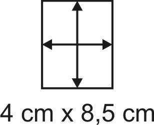 Eckbase 4x8,5 cm, 3mm dick