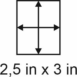 3mm zöllige Holzbase 2,5 x 3