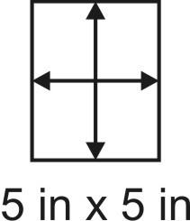 3mm zöllige Holzbase 5 x 5