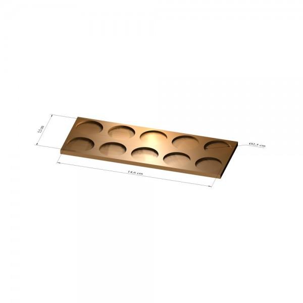 2x5 Tray 25 mm rund, 3mm