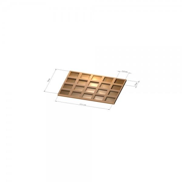 4x5 Tray 20 mm eckig, 3mm