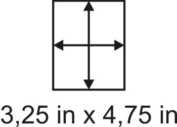 3mm zöllige Holzbase 3,25 x 4,75