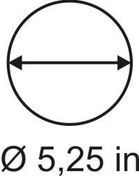 3mm zöllige Rundbase ø 5,25
