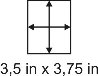 3mm zöllige Holzbase 3,5 x 3,75
