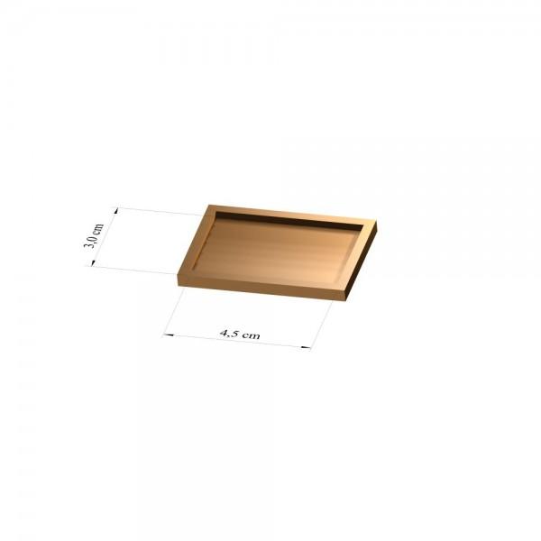 Tray 3 cm x 4,5 cm, 2mm