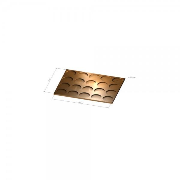 4x5 Tray 32 mm rund, 3mm