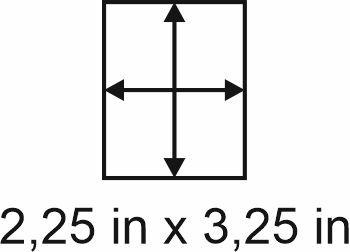3mm zöllige Holzbase 2,25 x 3,25