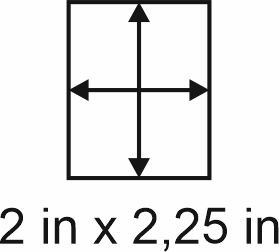 2mm zöllige Holzbase 2 x2,25