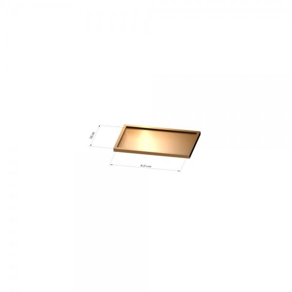Tray 4 cm x 8 cm, 3mm