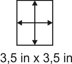 3mm zöllige Holzbase 3,5 x 3,5