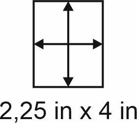 2mm zöllige Holzbase 2,25 x 4