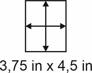 2mm zöllige Holzbase 3,75 x 4,5