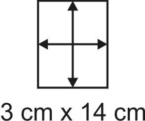 Eckbase 3x14 cm, 3mm dick