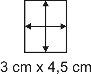 Eckbase 3x4,5 cm, 3mm dick