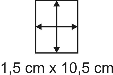 Eckbase 1,5x10,5 cm, 3mm dick