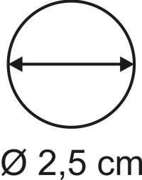Tabletop Rundbase 2,5 cm, 2mm
