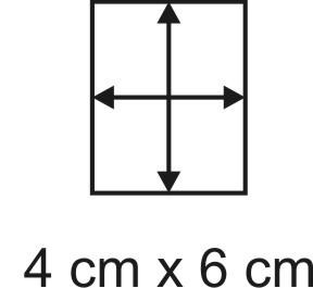 Eckbase 4x6 cm, 3mm dick