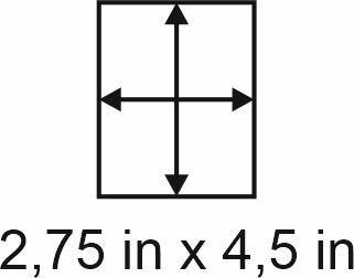 3mm zöllige Holzbase 2,75 x 4,5
