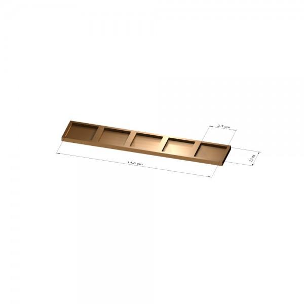 1x5 Tray 25 mm eckig, 2mm