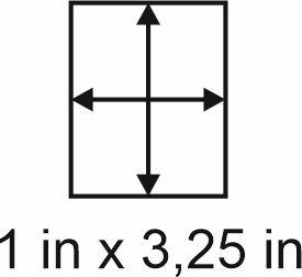 3mm zöllige Holzbase 1 x3,25