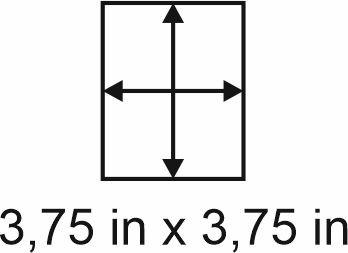 2mm zöllige Holzbase 3,75 x 3,75