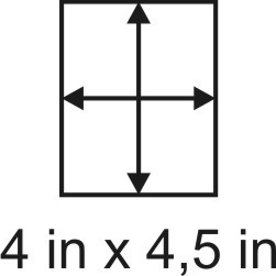 2mm zöllige Holzbase 4 x 4,5